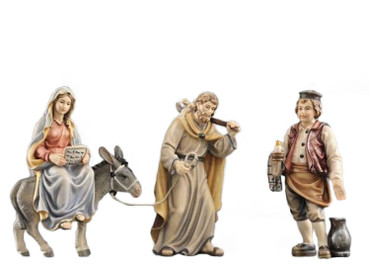 801541 Pregnant Mary Looking for Hotel Painted Kostner Nativity from Italy