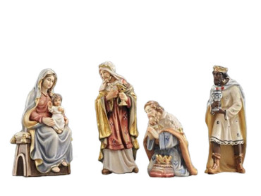 801542 Adoration of the Magi Painted Kostner Nativity from Italy