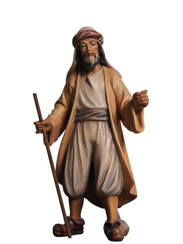 801050 Driver Real Wood Painted Kostner Nativity from Pema in Italy