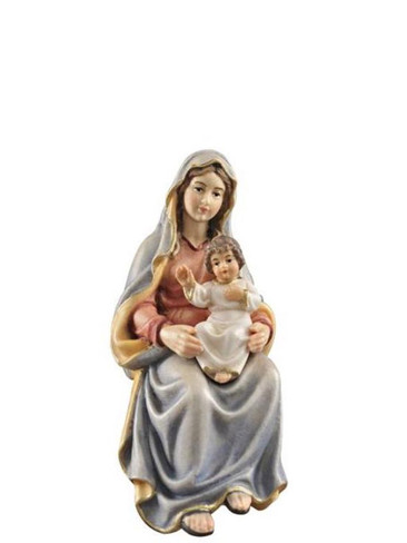 801063 Mary with Child Real Wood Painted Kostner Nativity from Pema in Italy