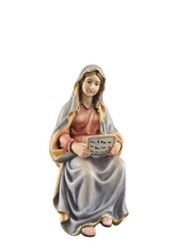 801067 Mary with Scripture Real Wood Painted Kostner Nativity from Pema in Italy