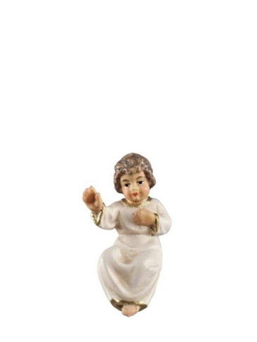8010631 Baby Jesus Real Wood Painted Kostner Nativity from Pema in Italy