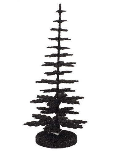 20cm-B Black Tree for Krampus from Ino Schaller Paper Mache Candy Container