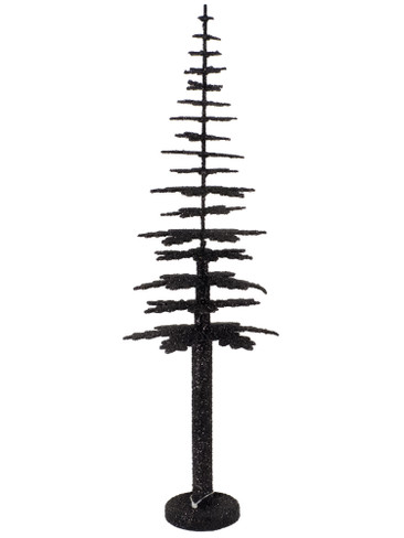 40cm-B Black Tree for Krampus from Ino Schaller Paper Mache Candy Container