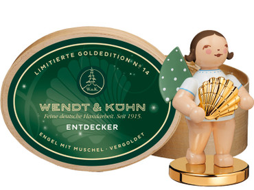 650-127-LE Wendt and Kuhn 2020 Angel Gold Plated Sea Shell The Discoverer