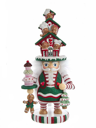 HA0571 Battery-Operated LED Gingerbread House Hat Hollywood Nutcracker
