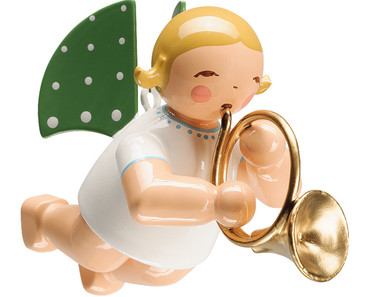 650-130-17 Hanging Angel Ornament with French Horn from Wendt and Kuhn