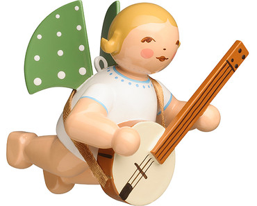 650-130-59 Hanging Angel Ornament with Banjo from Wendt and Kuhn