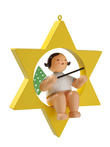 650-70-13 Hanging Angel Ornament with Baton in Star from Wendt and Kuhn