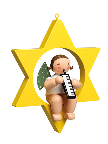 650-70-66 Hanging Angel Ornament with Melodica in Star from Wendt and Kuhn