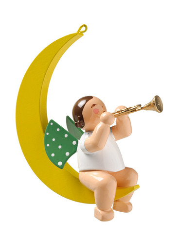 650-70-36 Hanging Angel Ornament with Trumpet in Moon from Wendt and Kuhn
