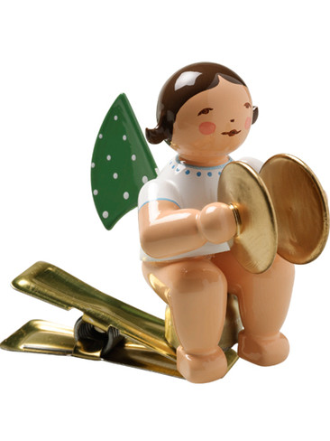 650-90-11 Angel Ornament with Cymbals on Clip from Wendt and Kuhn
