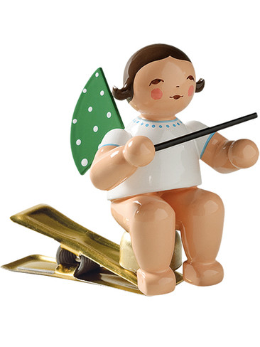 650-90-13 Angel Ornament with Baton on Clip from Wendt and Kuhn