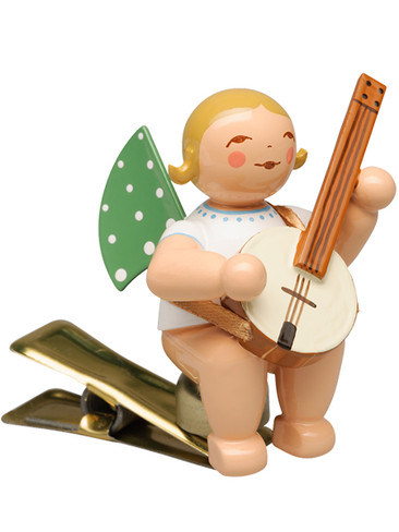 650-90-59 Angel Ornament with Banjo Clip from Wendt and Kuhn