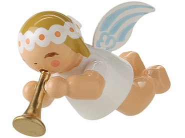 6307-3 Marguerite Angel with Small Trumpet Ornament from Wendt and Kuhn