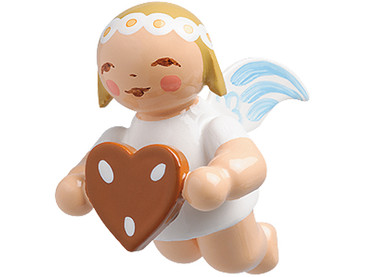 6307-150 Marguerite Angel with Gingerbread Heart Ornament from Wendt and Kuhn
