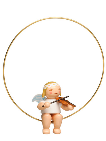 6308-2 Marguerite Angel in Ring Ornament with Violin from Wendt and Kuhn