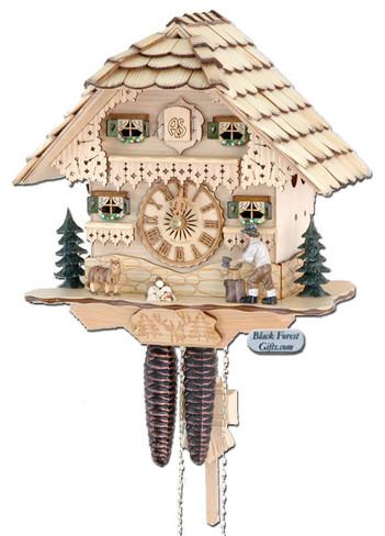 75-0 Wood Chopper Chalet 1 Day Cuckoo Clock