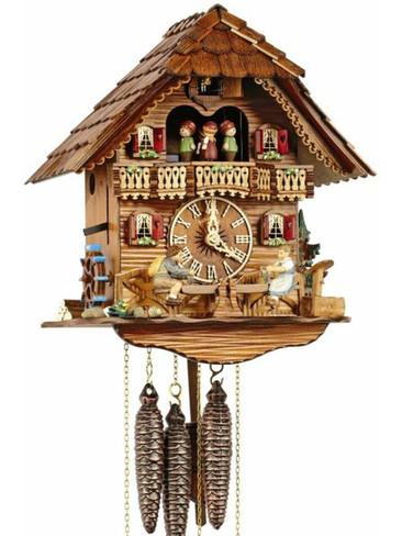 MT6426-9 Anton Schneider Musical See Saw Chalet 1 Day Cuckoo Clock