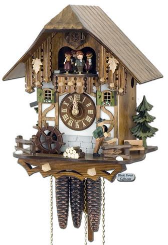 MT6563-9 Musical Wood Chopper Chalet 1 Day Cuckoo Clock