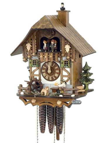 MT6564-9 Anton Schneider Musical Beer Drinker Chimney Sweep Chalet 1 Day Cuckoo Clock