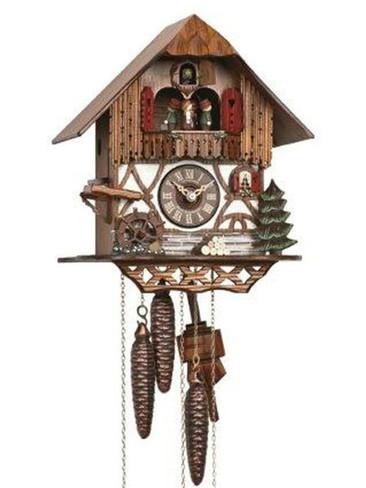 MT764-10 Anton Schneider Musical Chalet 1 Day Cuckoo Clock