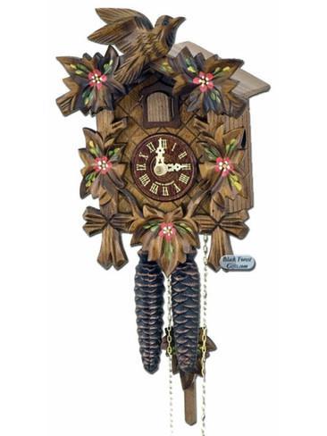 70-10 Anton Schneider 5 Leaf 1 Bird 1 Day Painted Cuckoo Clock