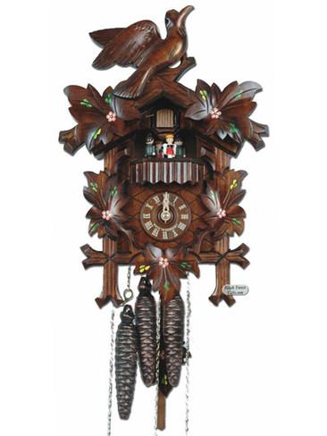 MT6100-10 Anton Schneider Carved Musical Flowers 1 Day Cuckoo Clock