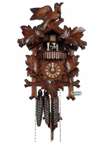 MT6100-9 Anton Schneider Carved Musical 1 Day Cuckoo Clock