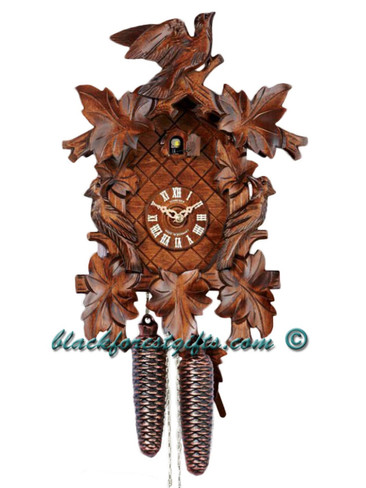 8T112-9 8 day Anton Schneider 3 Bird German Cuckoo Clock