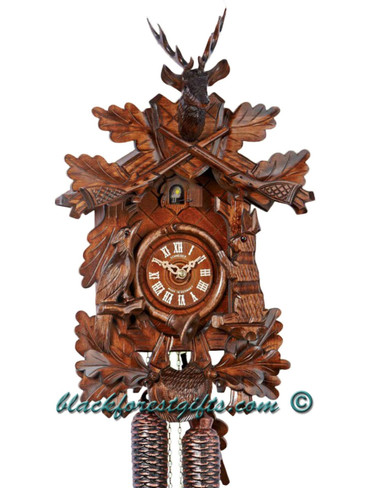 8T215-9 8 day Anton Schneider Hunters German Cuckoo Clock