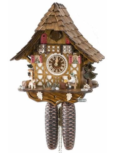 8T1673-9 Anton Schneider 8 Day Beer Drinker Cuckoo Clock