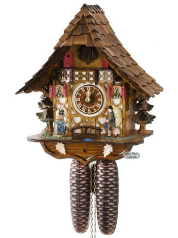 8T1686-9 Anton Schneider 8 Day Clock Peddler Cuckoo Clock