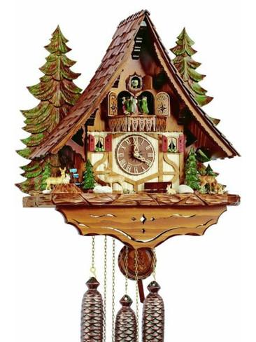 8TMT2654-9 Anton Schneider 8 Day Forest Scene Cuckoo Clock