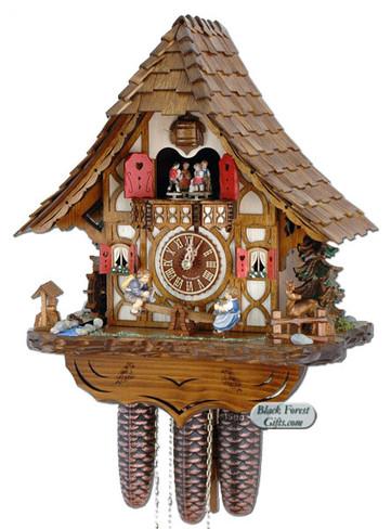 8TMT2683-9 Anton Schneider 8 Day See Saw Cuckoo Clock