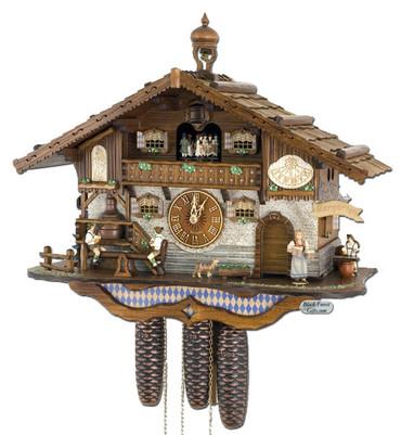 8TMT3413-9 Anton Schneider 8 Day Beer Hall Cuckoo Clock