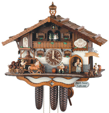 8TMT3414-9 Anton Schneider 8 Day Beer Hall Cuckoo Clock