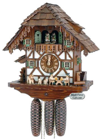 8TMT483-9 Anton Schneider 8 Day Beer Drinker Cuckoo Clock
