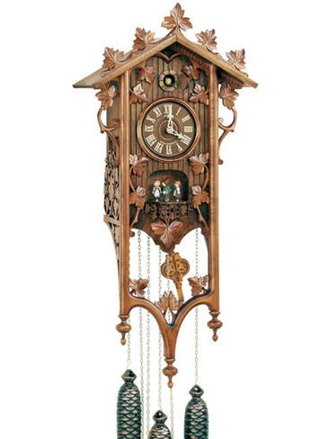 8TMT540-9 Anton Schneider 8 Day Antique Style Cuckoo Clock