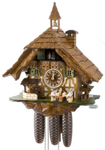 8TMT5523-9 Anton Schneider 8 Day Beer Drinkers Cuckoo Clock