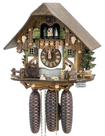8TMT6405-10 Anton Schneider 8 Day Wood Chopper Cuckoo Clock