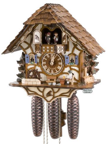 8TMT6413-9 Anton Schneider 8 Day Beer Drinker Cuckoo Clock