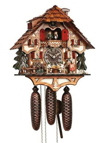 8TMT6414-9 Anton Schneider 8 Day Beer Drinkers Cuckoo Clock
