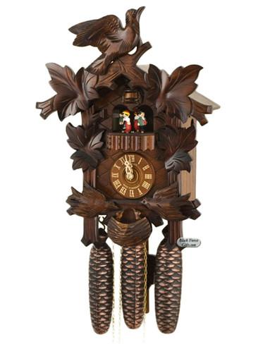 8TMT176-9 Anton Schneider 8 Day Feeding Birds Cuckoo Clock