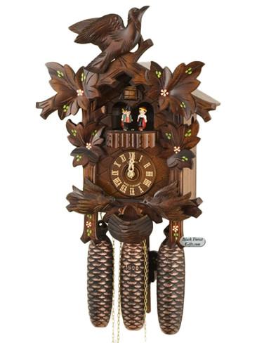 8TMT176-10 Anton Schneider 8 Day Feeding Birds Cuckoo Clock