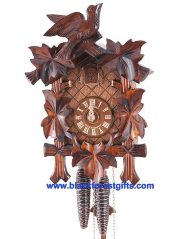 100-9 Anton Schneider 5 Leaf 1 Bird 1Day Cuckoo Clock