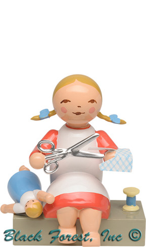 5231-8 Girl with Scissors from Wendt and Kuhn