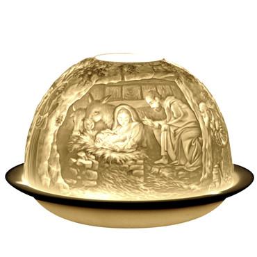 4013 Bernardaud Nativity Lithophane Votive Candle