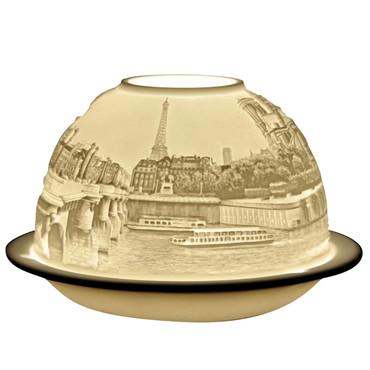 5077 Bernardaud Paris Sur Seine Lithophane Votive Candle