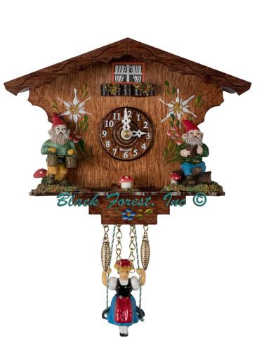 555SQ Quartz Swinging Lady Knome Miniature Clock